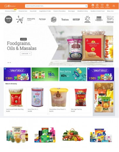 A Grocery Theme with 1200+ products