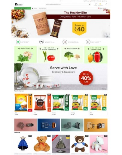 A Grocery website theme